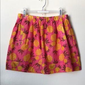 J. Crew pineapple skirt